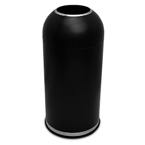 Model CBTR-15DT-BK | Open Dome Top Trash Receptacle