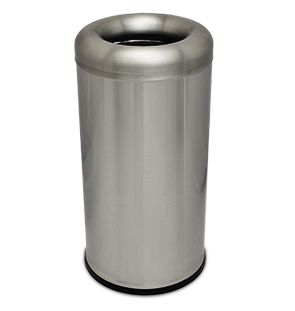 Model CBTR-15RT-SS | Oval Open Top Trash Receptacle