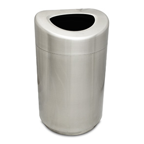 Model CBTR-32OT-SS | Oval Open Top Trash Receptacle