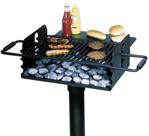 Model CC-1200 | Camp Stove Park Grill with Utility Shelf