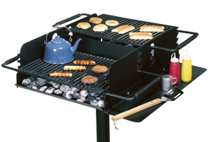 Model CC-2436 | CHAR-WOOD® Campstove Park Grill with Adjustable Dual Flip-Back Grate
