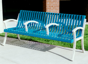 Model CC6WB-P | Classic Portable Bench (Lt. Blue/White)