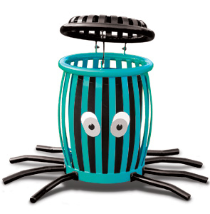 Model CCO34 | Creature Can Octopus Trash Receptacle (Teal/Black)