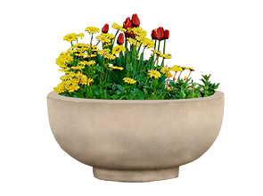 Model CCRP4 | 4' Diameter Planter (Terra Cotta)