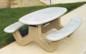 Model COT6 | COT6, 6 Ft Oval Concrete Picnic Table
