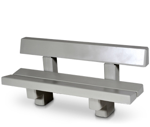 Model CPBC | 6' Concrete Bench with Back (LSB Dove Gray)