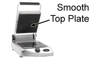 Model CPG-10F | Single Grill with Smooth Top and Bottom Plates