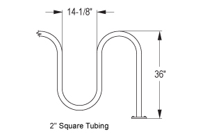Quick Dimensions for Capitol Square Bike Rack