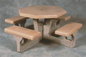 Model CT66-U |  Octagon Concrete Picnic Table