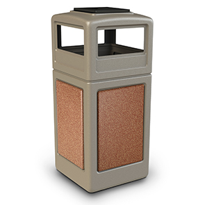 Model DC-72051699 | 42 Gallon Polymer Concrete Waste Containers w/Ashtray Dome Lid