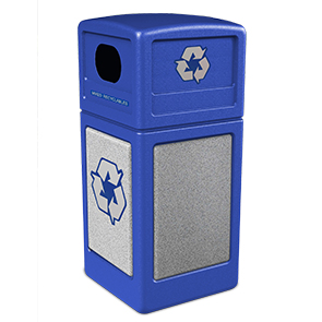 Model DC-72233099 | StoneTec® Recycle42 Recycling Receptacle (Blue/Ashstone)