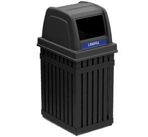 Model DC-72740199 | ArchTec Parkview Trash or Recycling Single Receptacle