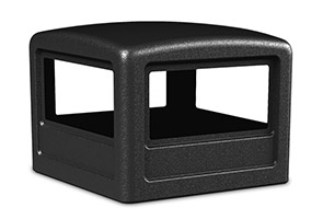 Model DC-732201 | Square Waste Container Dome Lids (Black)