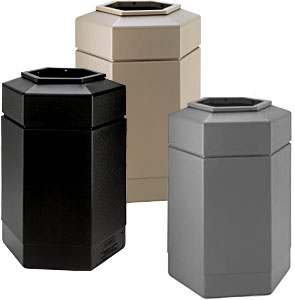 30 Gallon Hexagon Waste Receptacles Collection