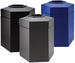 45 Gallon Hexagon Waste Containers Collection