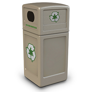 Model DC-74610299 | Recycle42 Recycling Receptacle (Beige)