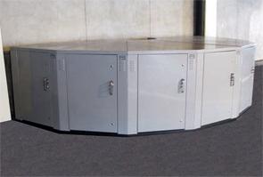 Perfect Dura Locker™ Pie Shaped Bicycle Storage Lockers