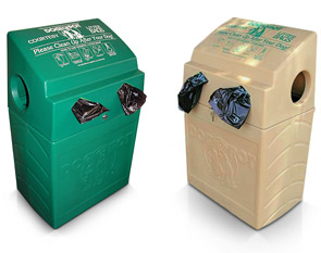 Model DP-1005-2 | Poly Plastic DogValet (Forest Green) & Model DP-1006-2 | Poly Plastic DogValet (Frost Beige)