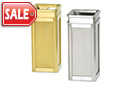 Accents Satin Stainless Indoor Ash Trash Receptacles