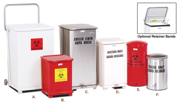 Defenders Medical Step Can Medical Waste Containers