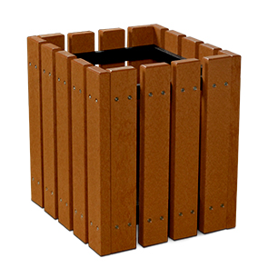 Model EMP | Square Recycled Plastic Planter (Cedar)