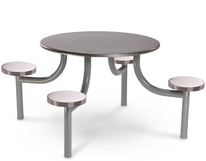 42Inch Round Stainless Steel Cafeteria Tables Prison Furniture