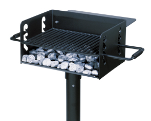 Model FC-1193-HC | Universal Access Camp Stove Park Grill with Utility Shelf