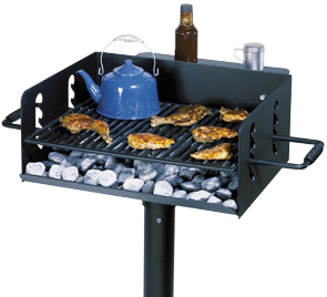 Universal Access Camp Stove Grill with Optional Utility Shelf