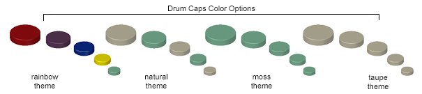 Drum Caps Color Options
