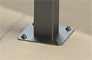 Steel Post | Surface Mount Detail