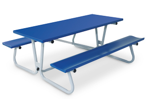 "Model FT6-P | Powder-Coated Quick Fold Picnic Table | 30""W x 72""L"