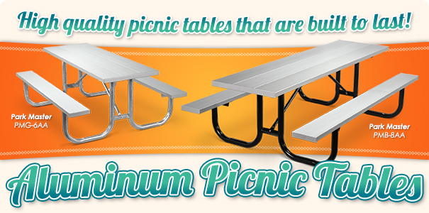 Park Master Aluminum Picnic Tables | Shop Now