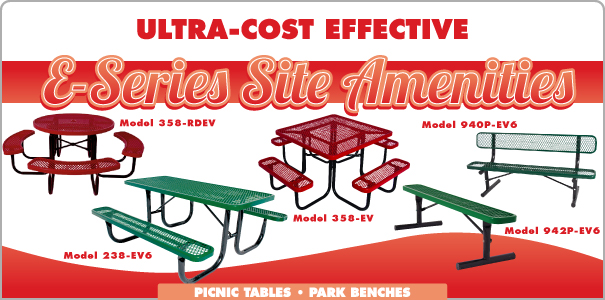 E-Series - Ultra-Cost Effective Site Amenities