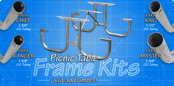 frame kit kid s square picnic table sqtk series