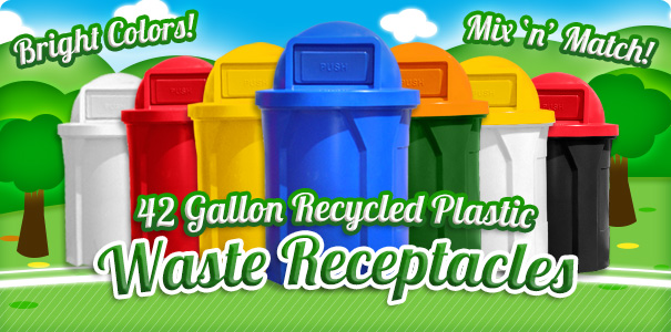 42 Gallon Waste Receptacles | Shop Now