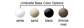 Umbrella Base Color Options