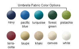 Umbrella Fabric Color Options
