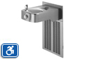Haws H1107.8 | Wall Mounted Stainless Steel ADA Refrigerated Water Fountain with Back Panel and Grille