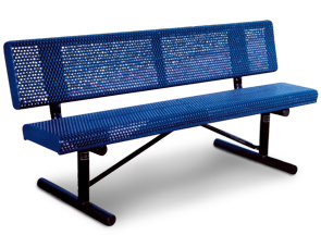 Model HR6WB-P | Innovated Rolled Style | Thermoplastic Park Benches (Mystic/Black)