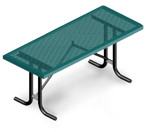 Model HTSL8-P | Rectangular Portable Tables | Punched Comfort Style (Green/Black)