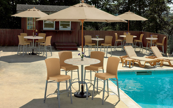 Bar Height Patio Furniture Set. Havana Classic Outdoor Patio Furniture Set