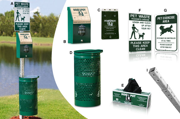 Header Pak DOGIPOT® Pet Waste Disposal Station Collection
