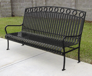 Model ISUB72 | Steel Powder-Coated Bench (Black)