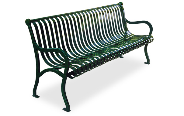 Iron Valley Steel Benches with Cast Iron Frames | Belson Outdoors®