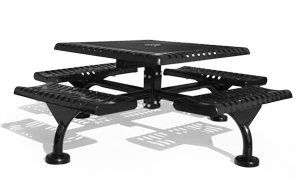 "Model JC46-S | 46"" Square Thermoplastic Table 
