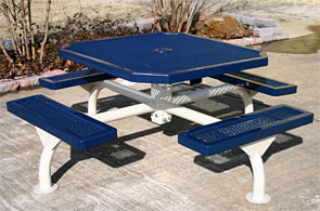Model JR468-S | Octagon Picnic Tables | Span Style (Mariner/White)