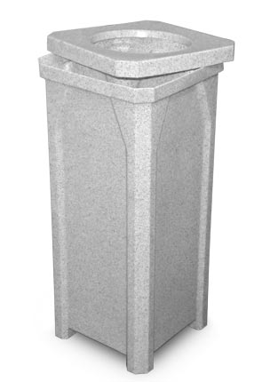 Model KC20-RT-G | Polyethylene Trash Receptacle