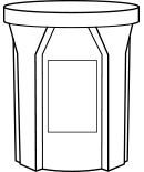 42 Gallon Round Receptacle Detail