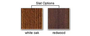 Slat Options