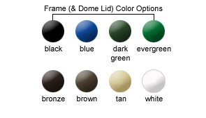 Frame (& Dome Lid) Color Options